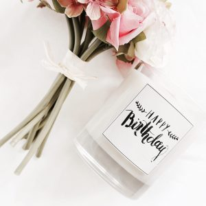 birthday scented candle
