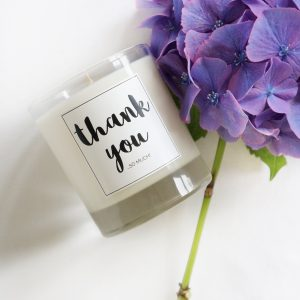 scented thank you candle