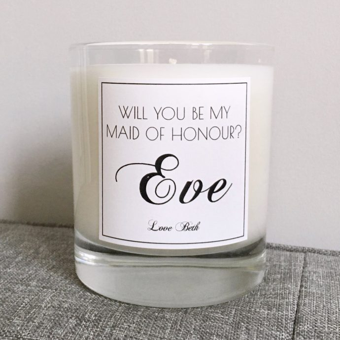 maid-of-honour-personalised-scented-candle-by-luxulyan-valley-candles